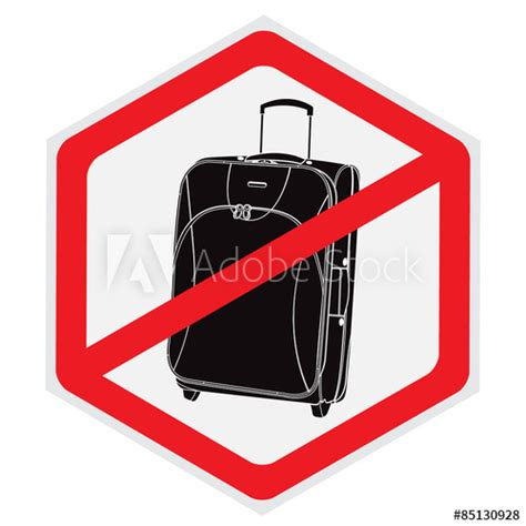 """""""No, luggage, baggage, sign, vector, illustration"""" Stock"""