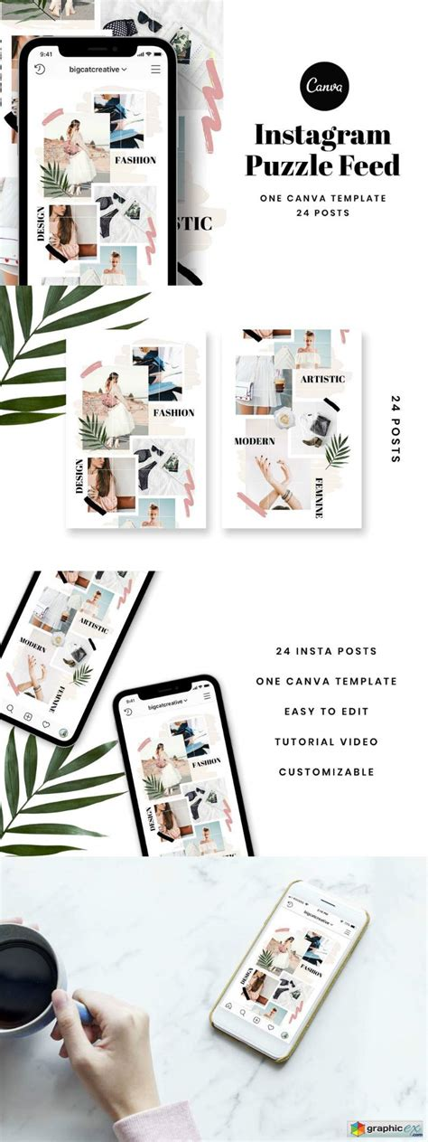 Instagram Puzzle Feed Template » Free Download Vector
