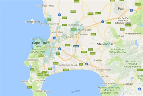 The South African cities covered by Rain's LTE-A network